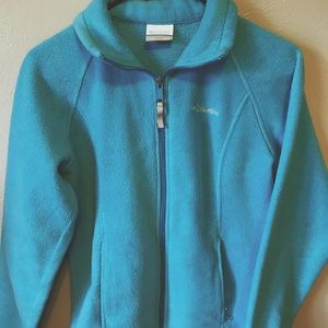 Turquoise blue Columbia zip-up jacket